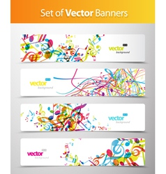 Set of abstract web headers vector