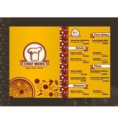 Restaurant menu design template mockup vector image