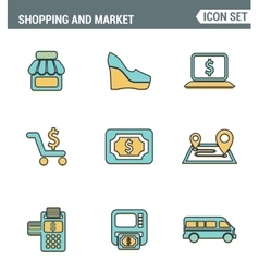 Icons line set premium quality of shopping symbol vector