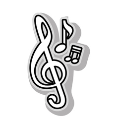 Music note melody vector