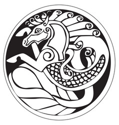 A druidic astronomical symbol of a unicorn or vector
