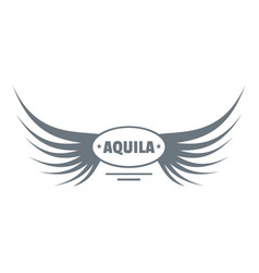 aquila wing logo simple gray style vector image vector image