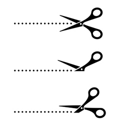 black cutting scissors vector image