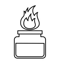 Burner laboratory flame icon vector