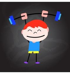 cartoon happy healthy kids vector image