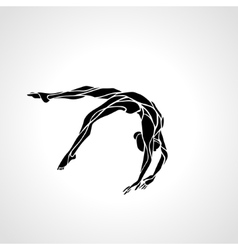 Competitive gymnastics Woman on Balance beam vector image