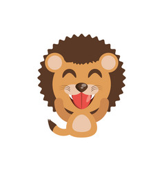 Cute lion animal character funny vector