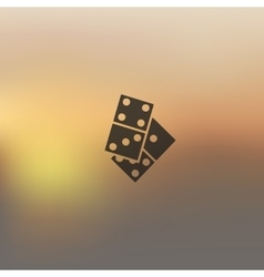 Domino icon on blurred background vector