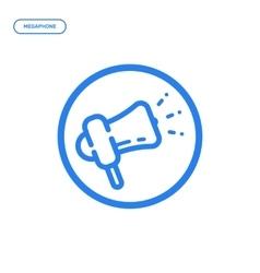 Flat line megaphone icon vector