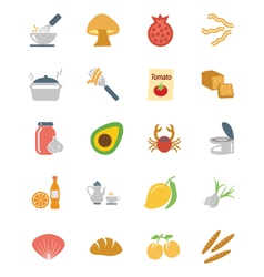 Food colored icons 10 vector