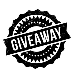 Giveaway stamp rubber grunge vector