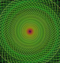 Green fractal spiral background vector