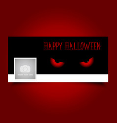 Halloween evil eyes timeline cover vector