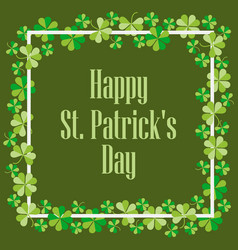 Happy st patricks festive background vector