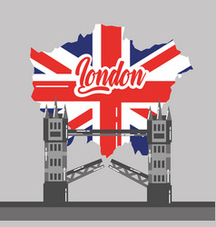 London bridge building map uk landmark vector