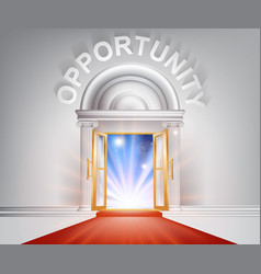 opportunity red carpet door vector image vector image