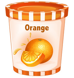 orange yogurt in cup vector image vector image