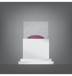 pedestal with glass and cushion vector image