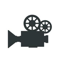 retro video camera icon vector image