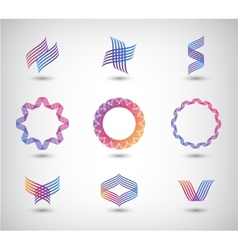set of abstract line vector image vector image