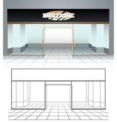 shop or boutique view vector image