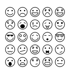 Smiley faces elements for website design vector image