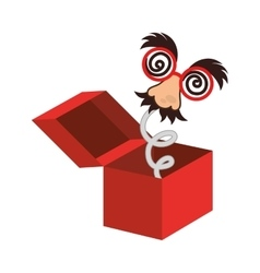 Surprise box fools day vector