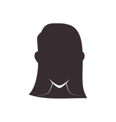 Woman head silhouette icon avatar female design vector
