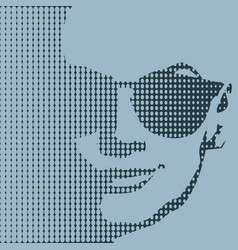 woman portrait in sunglasses vector image