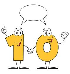 Yellow Number Ten Character vector image