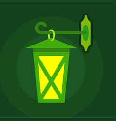 street light icon flat style vector image