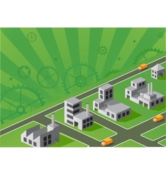 Factories vector image