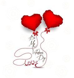 Valentines day with heart symbol vector