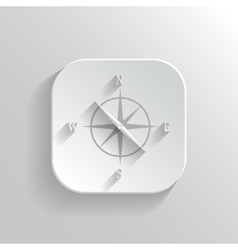 Compass icon - white app button vector