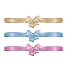 Collection of the three ribbons vector