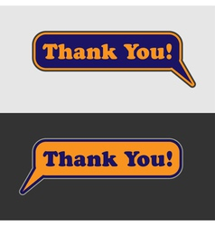 Thank you - two speech bubbles vector