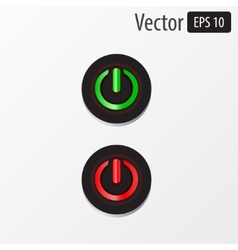 Power sphere buttons isolated vector