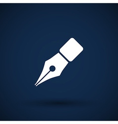 Fountain pen icon pen business write symbol vector