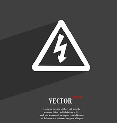 Voltage icon symbol flat modern web design with vector