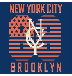 Brooklyn original sportwear t-shirt vector