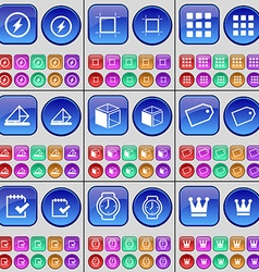 Flash frame apps message box tag survey wrist vector