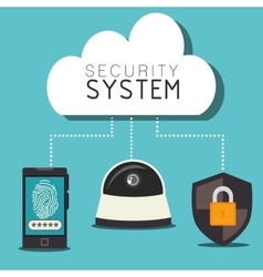 Security system and technologies graphic design vector