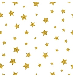 Gold stars seamless pattern vector