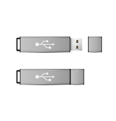 USB Flash Drive isolated on white background vector image