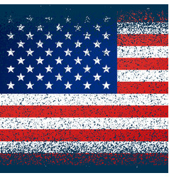 American flag in grunge texture vector