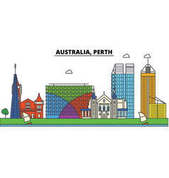 Australia perth city skyline architecture vector