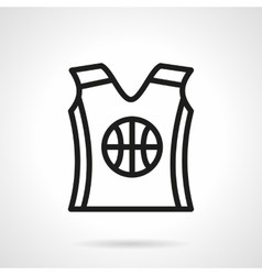 Basketball uniform black simple line icon vector
