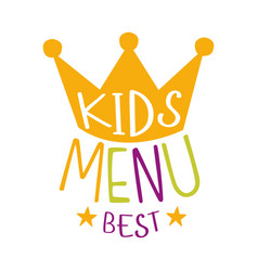 best kids food cafe special menu for children vector image vector image