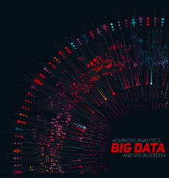 Big data circular colorful vector