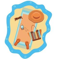 Bright beach set vector image